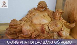 tuong phat di lac bang go pomu